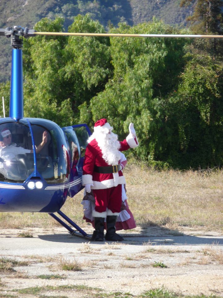 Santa waving to the Crowd